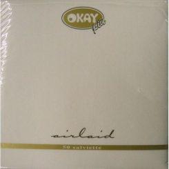 Air Laid textilhatású 40x40 cm-es szalvéta fehér színű