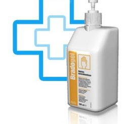 BradoGél Higiénés kézfertőtlenítésre 500 ml pumpás