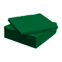Tissue Exclusive 33x33 cm-es papírszalvéta 3 rétegű sötétzöld