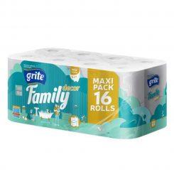 Grite Family Deco 16 tekercses 3 rétegű toalettpapír (145 lap/tekercs)