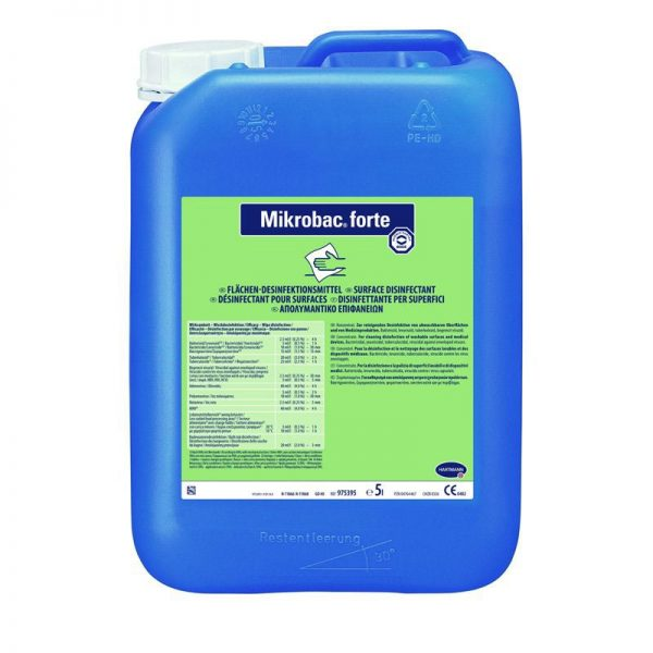 Mikrobac forte fertőtlenítő koncentrátum 5 literes