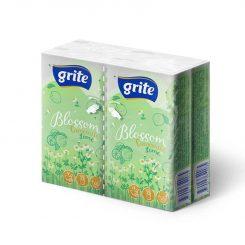 Grite Blossom kamilla&lime 3 rétegű papírzsebkendő 4x10 db